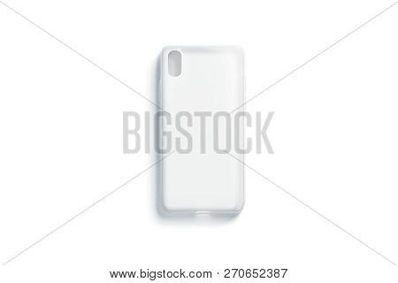 Blank Transparent Matt Phone Case Mockup, Isolated, Top View, 3d Rendering. Empty Save Bumper Mock U