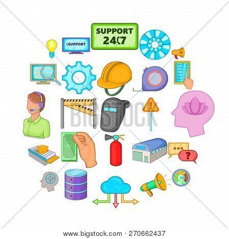 Computer Expertise Icons Set. Cartoon Set Of 25 Computer Expertise Vector Icons For Web Isolated On