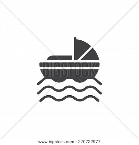 Baby Moses in River vector icon. filled flat sign for mobile concept and web design. Baby Moses Basket simple solid icon. Symbol, logo illustration. Pixel perfect vector graphics poster