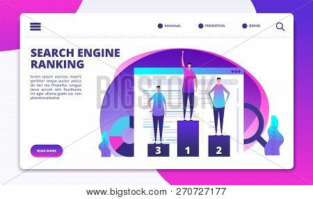 Search Engine Ranking. Seo Marketing Strategy And Website Optimization. Success Online Business Land