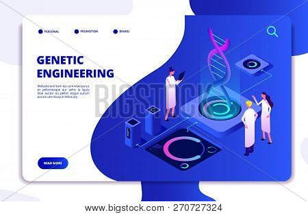 Genetic Concept. Dna Nanotechnology Biochemistry And Human Genome Dna Engineering. Molecular Biology