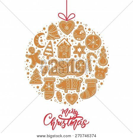 Christmas Gingerbread Cookies Card Merry Christmas