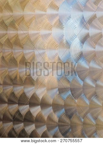 Industrial Stainless Tank Surface With Swirls Surface Pattern