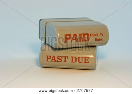 Paid Past Due Stamps