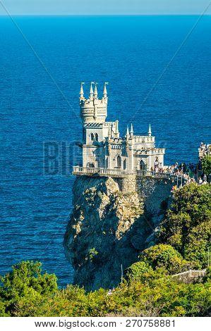 The Swallows Nest, A Major Tourist Attraction Near Yalta In Crimea