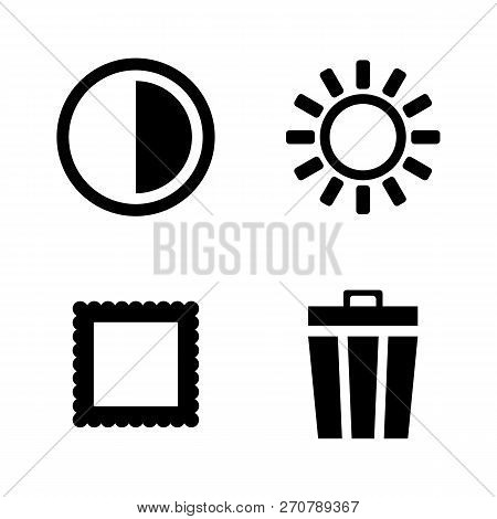 Photo Video Camera Mode. Simple Related Vector Icons Set For Video, Mobile Apps, Web Sites, Print Pr