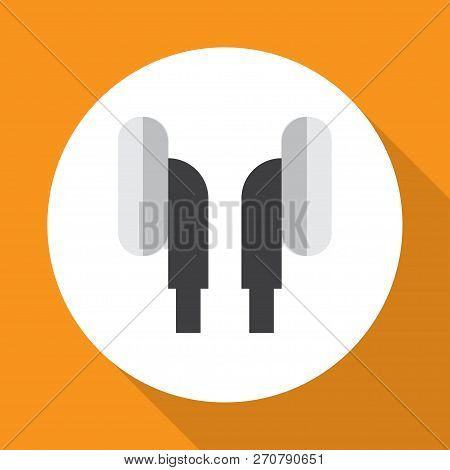 Ear Muffs Icon Flat Symbol. Premium Quality Isolated Earpiece Element In Trendy Style.