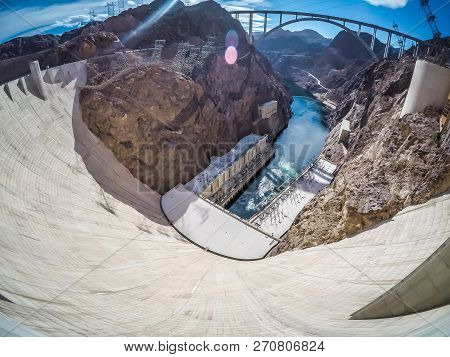 On The Hoover Dam At Lake Mead
