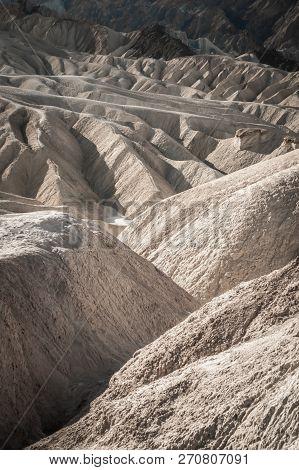 Fine Desert Landscape In Death Valley National Park California