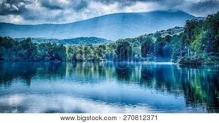 Julian Price Lake, Along The Blue Ridge Parkway In North Carolina