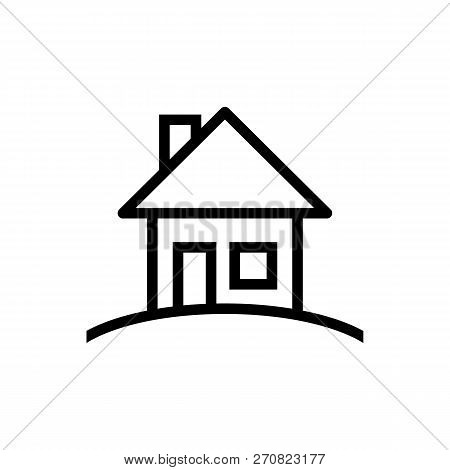 House Vector Icon On White Background. House Modern Icon For Graphic And Web Design