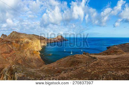 Cape Ponta de Sao Lourenco in Madeira Portugal - nature background