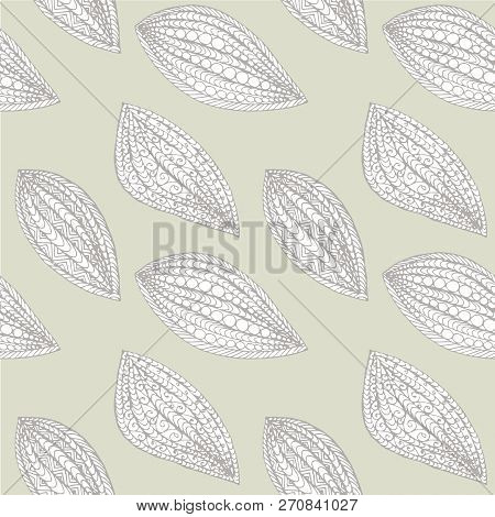 Floral Seamless Pattern Hand Drawn Design Element Stock Vector Illustration For Web, For Print, For