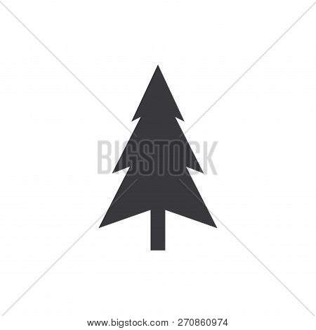 Christmas Tree Vector Icon On White Background. Christmas Tree Icon In Modern Design Style. Christma