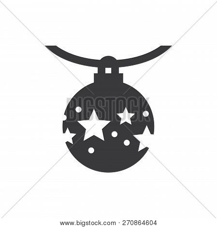Christmas Ball Vector Icon On White Background. Christmas Ball Icon In Modern Design Style. Christma