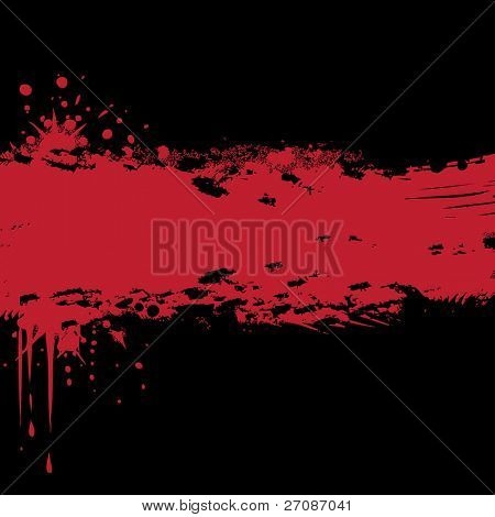 Black and red ink splat background