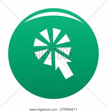 Cursor Interactive Click Icon. Simple Illustration Of Cursor Interactive Click Vector Icon For Any D