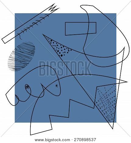 Abstract Vector Artwork, Inspired By Cubism. Vector