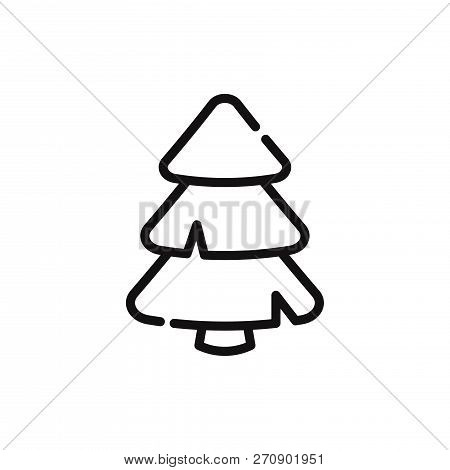 Pine Tree Icon Isolated On White Background. Pine Tree Icon In Trendy Design Style. Pine Tree Vector