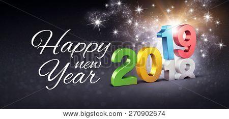 Happy New Year 2019 Festive Greeting Card