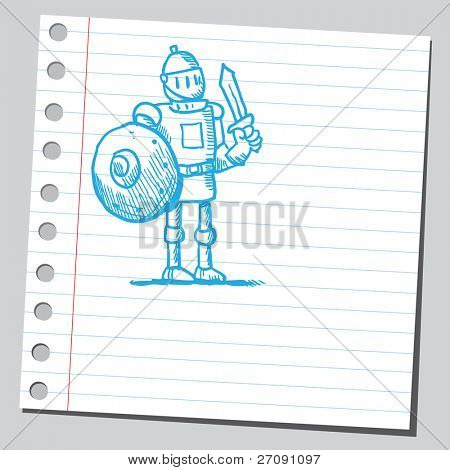 Sketch of a medieval knight