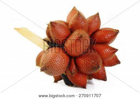 Salacca Wallichiana Fruit At On White Background