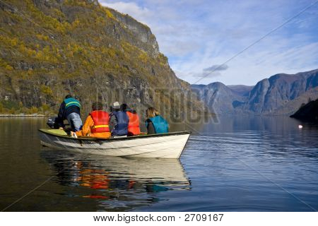 Small Boat In The Lake