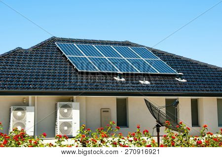 Residential Solar Panels On House - Australia