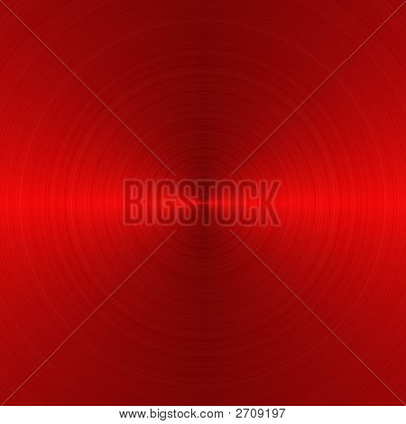 Circular Red Metallic Background
