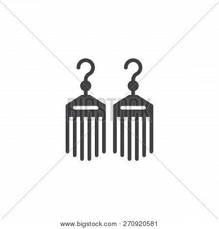 Bijouterie Earrings Vector Icon. Filled Flat Sign For Mobile Concept And Web Design. Female Jewelry
