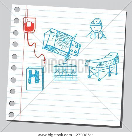 Drawing of a medical symbols