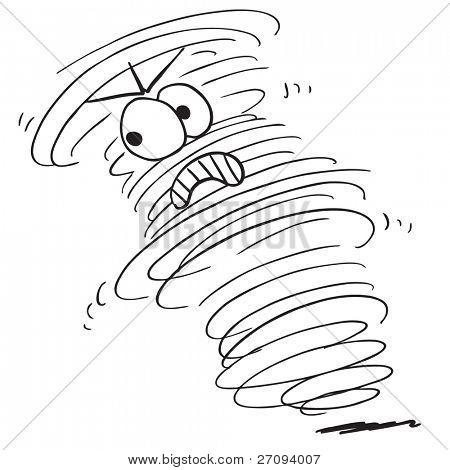 Sketchy illustration of a angry tornado