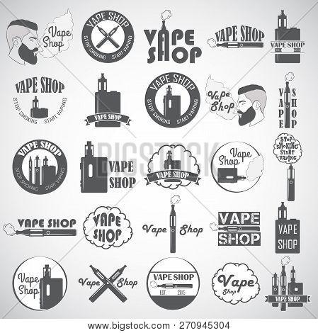 Set Of Vape, E-cigarette Logo