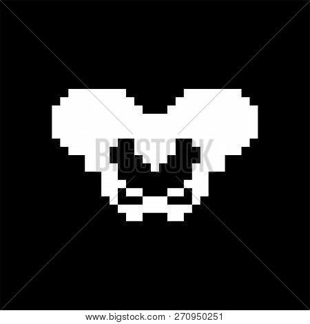 Pelvic Bone Pixel Art. Bones Anatomy 8 Bit. Pixelate Human Skeleton System 16bit. Old Game Computer