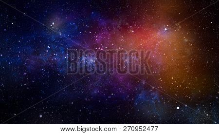High Definition Star Field Background .blue Dark Night Sky With Many Stars. Milky Way On The Space B