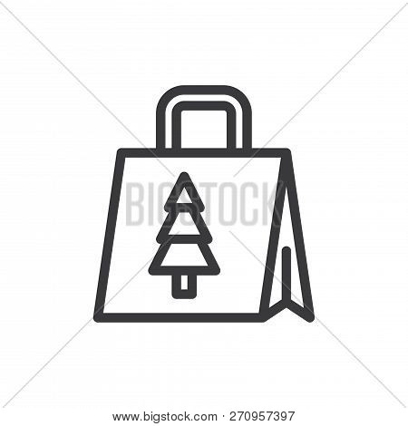 Shopping Bag Vector Icon On White Background. Shopping Bag Icon In Modern Design Style. Shopping Bag