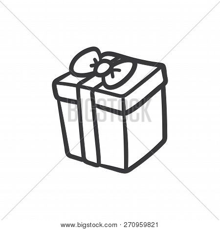 Gift Box Vector Icon On White Background. Gift Box Icon In Modern Design Style. Gift Box Vector Icon