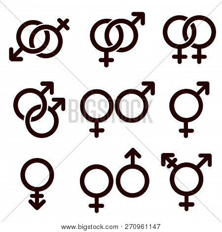 Gender And Sexual Orientation Icon Set
