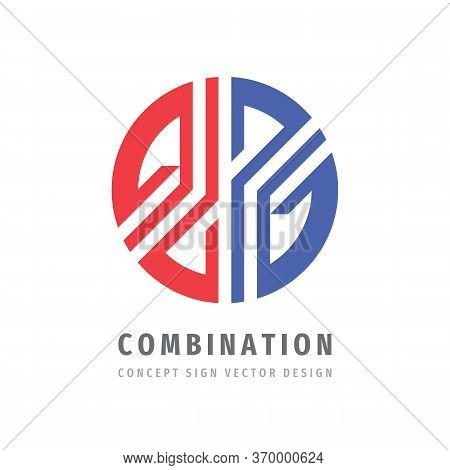 Combination Concept Logo Template Design. Union, Cooperation, Communication, Alliance, Connection, I