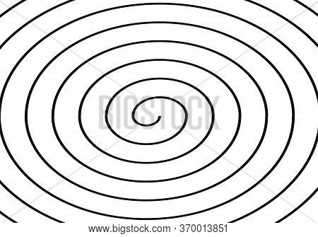 Vector Background Of Psychedelic Spiral With Radial Rays. Spiral For Web And Applications.