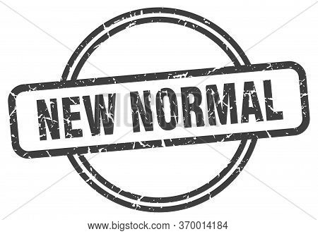 New Normal Stamp. New Normal Round Vintage Grunge Sign. New Normal