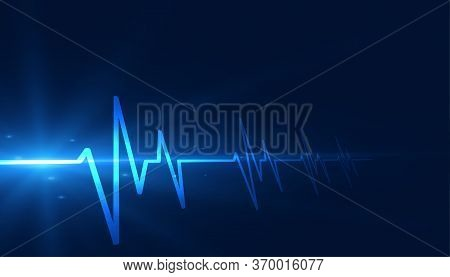 Cardiograph Heartbeat Lines Medical Healthcare Background Design