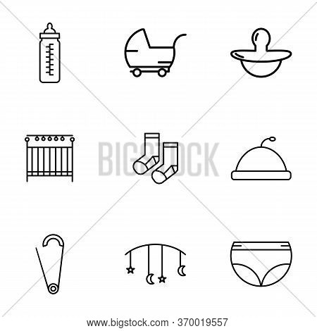 Baby Icon Set With Outline Style Vector For Your Web Design, Logo, Ui. Illustration.set Includes Ico