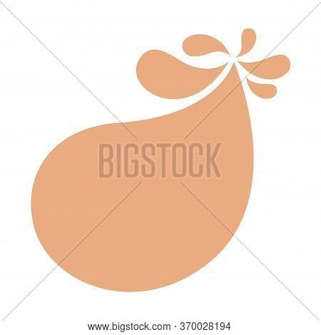 Blob Shape Brown Pastel Soft For Background, Cocoa Brown Milk Blob Splash On White, Water Blobs Drop