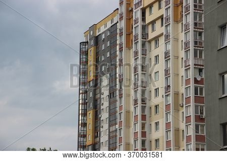 Modern Condominium Or Apartment Building For Living In The City