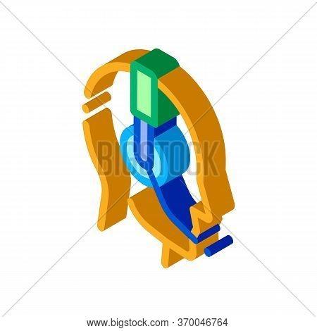 Representative Help Line Icon Vector. Isometric Representative Help Line Sign. Color Isolated Symbol