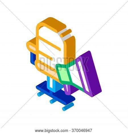 Loudspeaker Device Icon Vector. Isometric Loudspeaker Device Sign. Color Isolated Symbol Illustratio