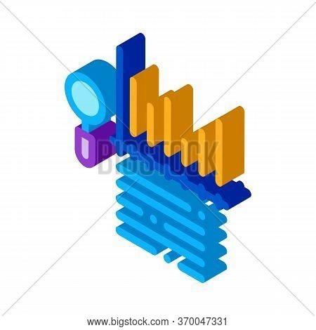 Study Bar Graph Search Engine Optimization Icon Vector. Isometric Study Bar Graph Search Engine Opti