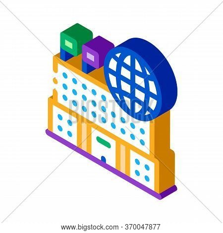 Different Countries To Visit Icon Vector. Isometric Different Countries To Visit Sign. Color Isolate