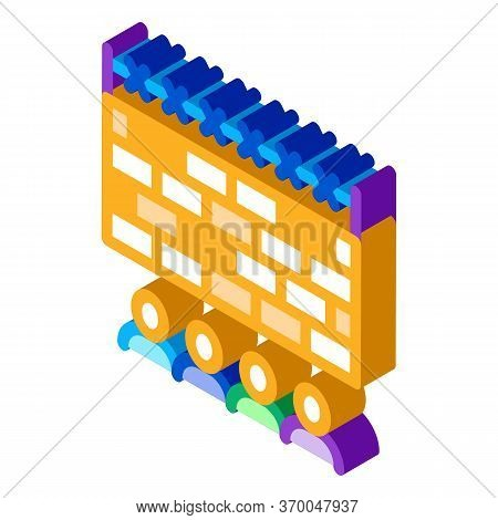 Banned People Behind Fence Icon Vector. Isometric Banned People Behind Fence Sign. Color Isolated Sy